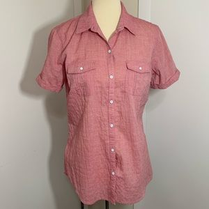 Eddie Bauer Short Sleeve Button Down Top